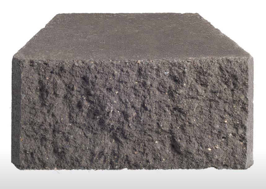 A Fitzroy Wall Block 375x210x180mm CHARCOAL