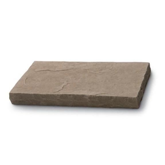 Cultured Stone Flat Capstones Random Feature Wall