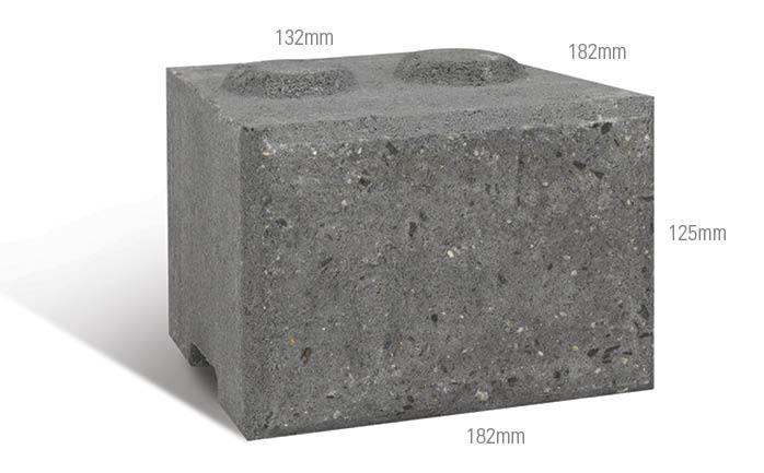 Adbri Masonry Miniwall Block 182/132x182x125mm
