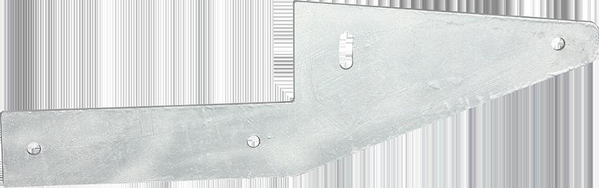 Aussie Concrete Galvanised Offset Fence Bracket 3mm