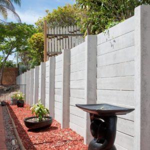Aussie Concrete Smooth Grey 2400x200x75mm Sleeper Retaining Wall