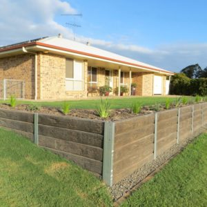 Aussie Concrete Ironbark 2000x200x75mm Sleeper Retaining Wall