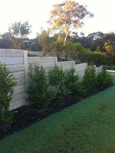 Aussie Concrete Sandstone Graphite Effect 2000x200x75mm Sleeper Retaining Wall